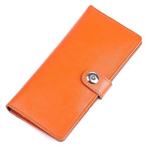 Мужчины и женщины Новая мода Держатель 100% натуральная кожа Кнопка карта и кошелек Lightinthebox 730.000