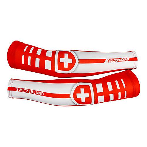 KOOPLUS - швейцарской сборной полиэстер  лайкра красный  белый Велоспорт нарукавник Lightinthebox 858.000