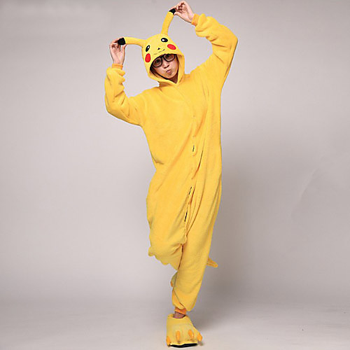 Мужская Желтый Пикачу ватки коралла Kigurumi пижамы Lightinthebox 2148.000