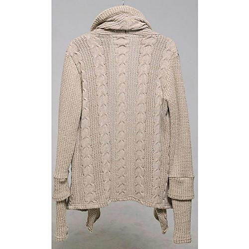 Мужская Широкий воротник Модные длинным рукавом с перчатки вязать свитер Lightinthebox 1396.000