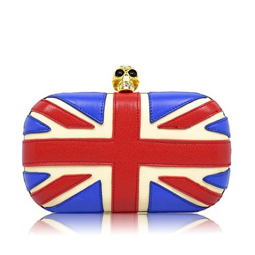 Флаг Великобритании с хрустального черепа рукоятки вечерние сумочки / муфты Lightinthebox 2491.000