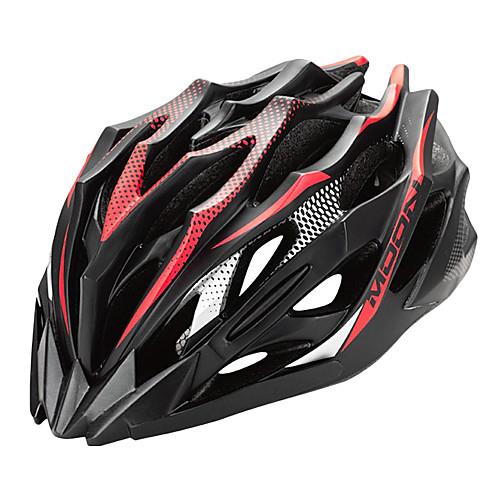 ЛУНА Велоспорт Красный ПВХ / EPS 28 Вентс Подросток Свет велосипед шлем Lightinthebox 1288.000