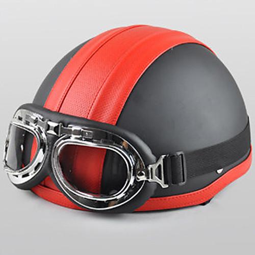 Модная кожа ABS Материал мотоцикла половину шлем (с Harley стиле линзы, дополнительные цвета) Lightinthebox 773.000