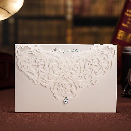 Цветочные Вырез приглашение на свадьбу с горный хрусталь - Набор 50 (больше цветов) Lightinthebox 2148.000