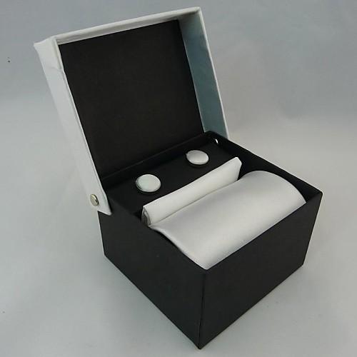 Мода мужская повседневная сплошной цвет галстука Запонки платок Set (ширина: 10 см) Lightinthebox 730.000