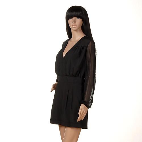 Женщины марлевые длинным рукавом Глубокий V-образным вырезом Брюки Комбинезон Lightinthebox 614.000