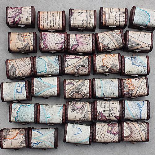 Морской Карта Дизайн Дерево рабочего Storage / Ювелирные изделия Организатор (Случайные Дизайн) Lightinthebox 267.000