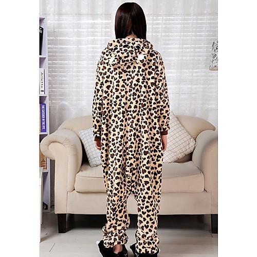 Ожесточенные африканский леопард фланели взрослых Kigurumi пижамы Lightinthebox 1718.000