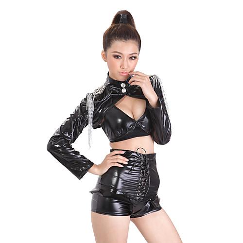 Cool Girl Черный Кожа PU женщин Ночной клуб сексуальная форма Lightinthebox 1288.000
