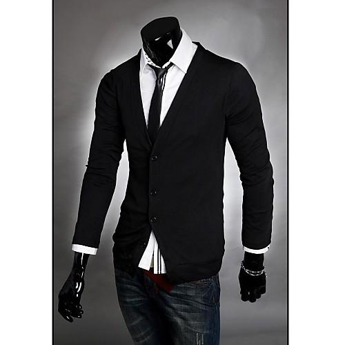 Мужская V шеи кардиган Осень Маленькая рубашка Мужской корейской версии Slim Fit Кардиган моды Повседневная одежда Lightinthebox 1312.000