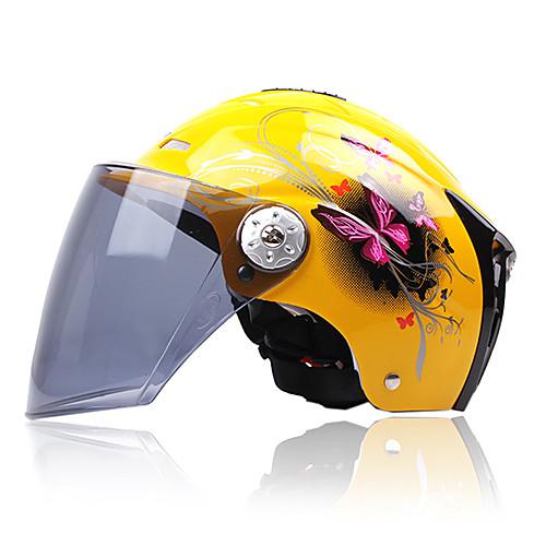 310 высококачественный материал ABS мотоцикл половина шлем (желтый) Lightinthebox 472.000