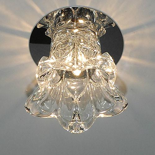 привело кристалл скрытой установки, 1 свет, лакомство стекло покрытие Lightinthebox 1073.000
