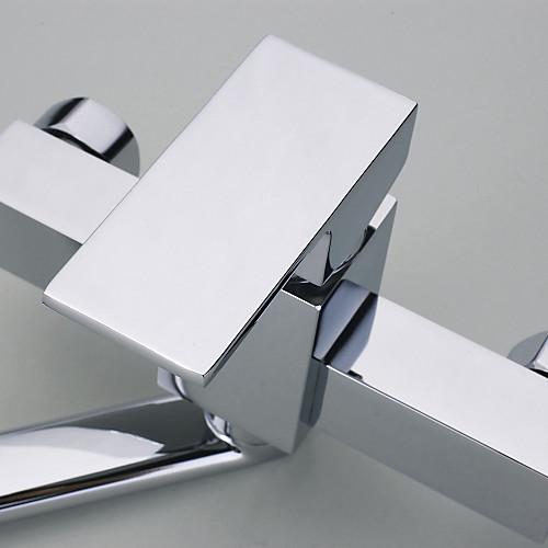 Современной хромированной отделкой настенный кухонный кран Lightinthebox 3652.000
