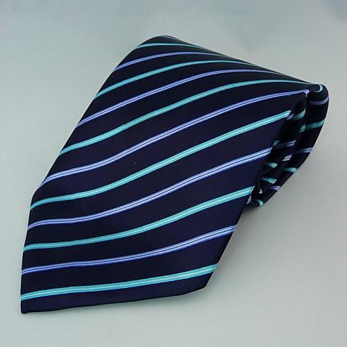Мода полосой Темно-синий Галстуки для мужчин