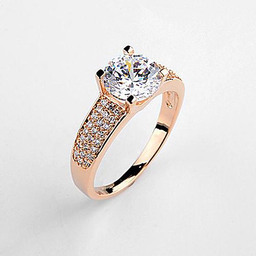 Экстравагантные Позолоченные Круглый хрустальное обручальные кольца для женщин Lightinthebox 669.000