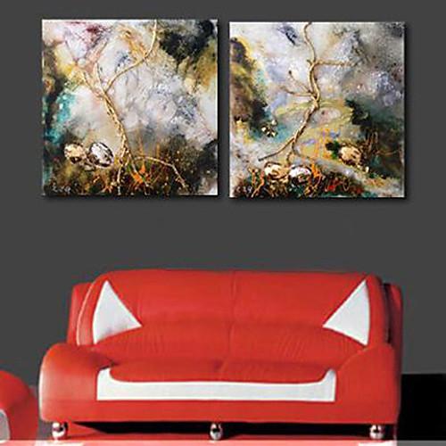 Натяжные Печать холст искусства абстрактные Увядшие травы комплект из 2 Lightinthebox 3007.000