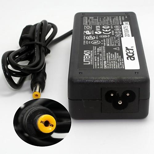 Компактный портативный Подлинная Ноутбук Acer адаптер питания (19V 3.42A 5,5 х 1,7 мм разъем / AC 100 ~ 240 / АС Plug) Lightinthebox 300.000