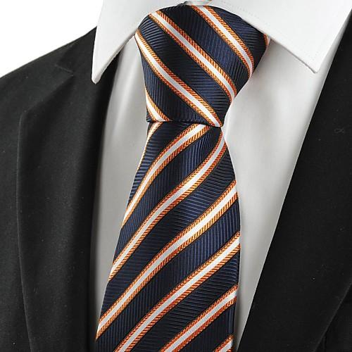 Роскошный Серебряный Полосатый черный формальный мужской галстук Галстук для свадьбы Сувениры