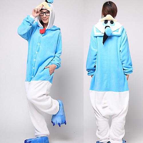 Синий и белый Дональд Дак фланели взрослых Kigurumi пижамы Lightinthebox 1718.000