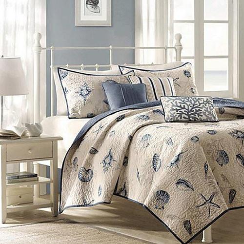 Комплект постельного белья из 3 предметов с морским принтом (в наборе 2 наволочки, 1 одеяло) Lightinthebox 4511.000