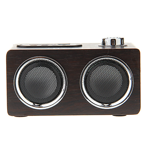 Деревянный мини стерео Музыкальный USB MP3-плеер динамиком Карточка TF поддержки FM-радио (HY-A17) Lightinthebox 1159.000
