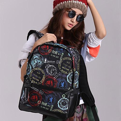 Новое прибытие Мода Печать Печать Очаровательная Рюкзак для девочки Школа рюкзак сумки на ремне BBP129