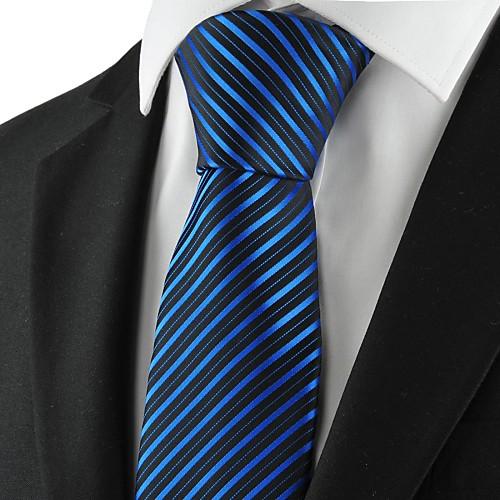 Новый Полосатый Синий Мужчины Галстук Формальные Свадебное Сувениры
