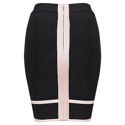 Горячий продавать Мода Fish Tail черный и абрикос Bodycon повязки юбки Lightinthebox 1368.000