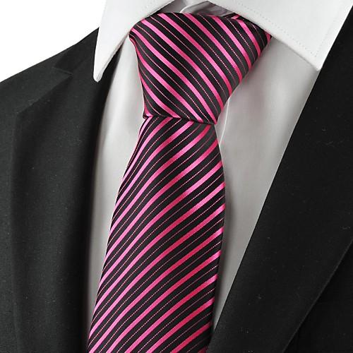 Новый Полосатый Розовый Черный Золотой Мужские Галстук партия для свадьбы Сувениры