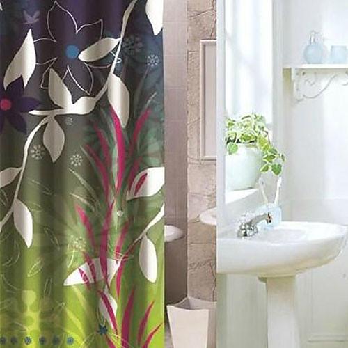 Душевая занавеска Современные цветочные Распечатать плотной ткани Водонепроницаемость W71