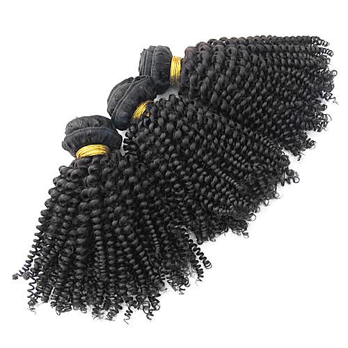 3шт бразильского Виргинские Kinky вьющихся волос Плетение класс 5А 8inch Natural Black Lightinthebox 8164.000