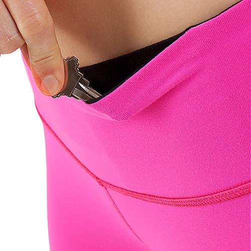 Спортивная одежда Женская Простые полиэстер Solid Color Йога Тощие Crop брюки (больше цветов) Lightinthebox 1159.000