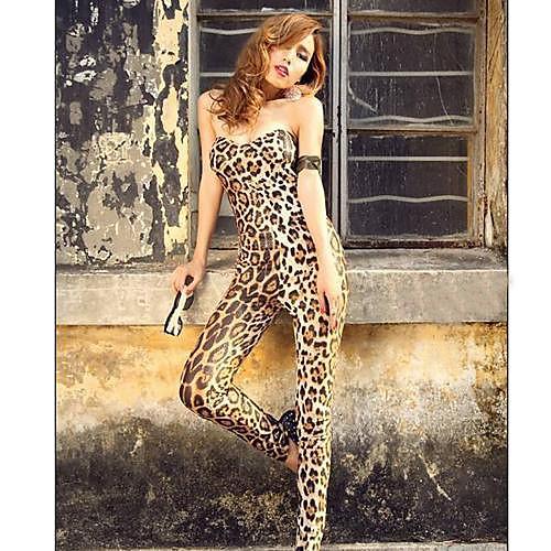 Женские Грудь Wrap Leopard хлопок смесь Комбинезон Брюки Lightinthebox 418.000