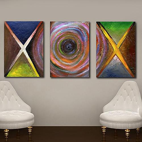 Натяжные Печать холст абстрактного искусства X и Vortex набор из 3 Lightinthebox 2577.000