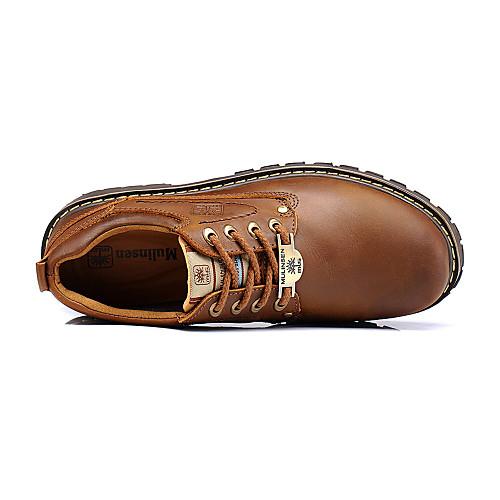 Кожаные мужские плоский каблук комфорта Oxfords туфли с шнуровке (больше цветов) Lightinthebox 3007.000