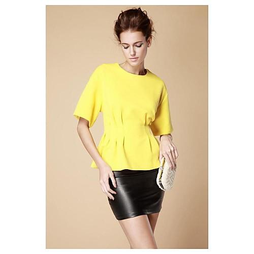 Блузка женская с О-образным вырезом, приталенная с широким рукавом Lightinthebox 977.000