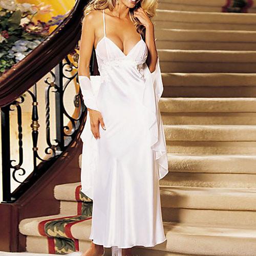 Иннокентий девушка Белый кружевной Straped чай длины платье Сексуальная Ночное Lightinthebox 1073.000