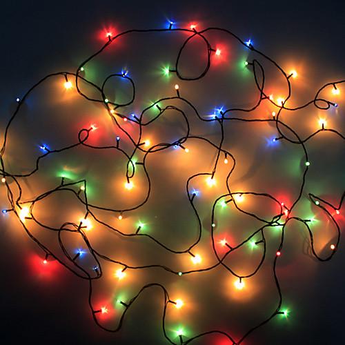 100 светодиодов Красочный свет строк Свет Рождества