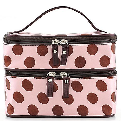 Женская мода Портативный Косметические Ретро Dot Pattern красота Макияж рук сумка Lightinthebox 482.000