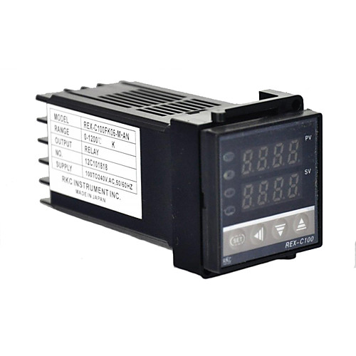 Двойной цифровой РКЦ ПИД контроллер температуры REX-C100 с термопары K, релейный выход Lightinthebox 858.000