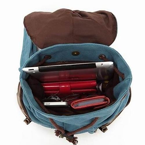 Повседневная Мужчины Женщины Холст Рюкзак Рюкзак мешок школы Lightinthebox 3394.000