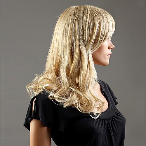 Kanekalon японца 100% синтетическое Ближний длины завитые парик (пепельный блондин) Lightinthebox 1043.000