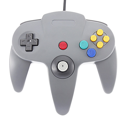 Проводной джойстик Видео регулятор игры для Nintendo 64 (черный) Lightinthebox 556.000