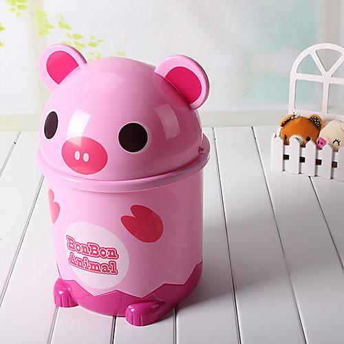 Симпатичный мультфильм Розовая Свинья Форма Мусорное ведро Lightinthebox 708.000