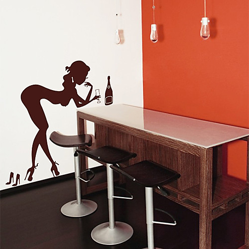 Люди питьевой Женщина стены стикеры Lightinthebox 1288.000