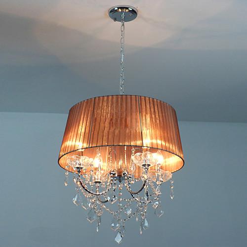 Хрустальная люстра, 4 света, Страна Творческий Металл Ткань Lightinthebox 7734.000