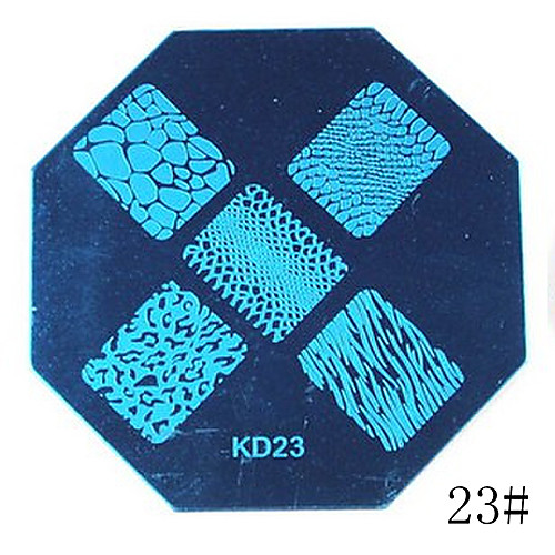 1PCS Nail Art Stamp Stamping Blue Image Template Plate KD Series NO.21-24 (Assorted Colors) Lightinthebox 85.000