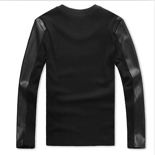 Мужская мода шею длинным рукавом футболки Lightinthebox 697.000