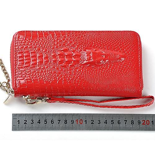 Женщины Новая мода Кожа PU крокодила Длинный кошелек Lightinthebox 515.000