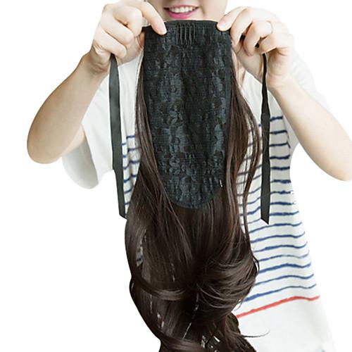 17-дюймовый ленточку синтетического природного Черные Волнистые Ponytail Наращивание волос Lightinthebox 1030.000